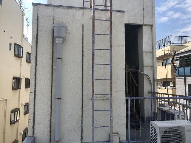 大阪市東淀川区 屋上防水 施工前 鉄部劣化