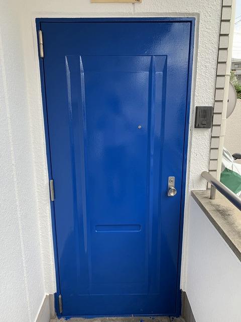 鉄部塗装 終了 扉