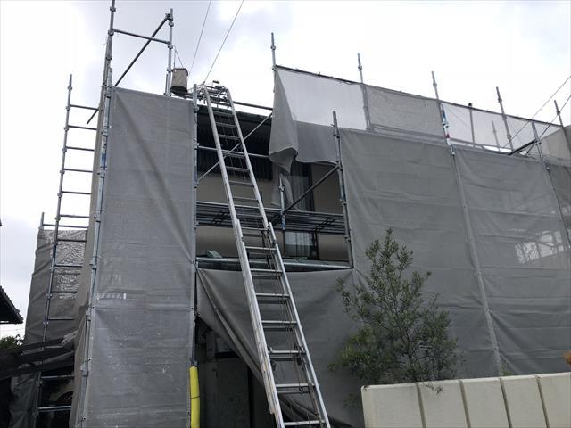 屋根工事 スライダー 材料運搬