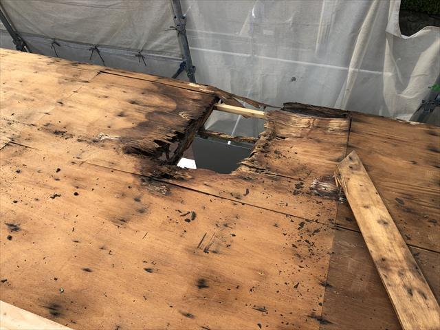 屋根葺き替え 野地板 劣化 腐食