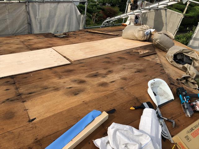 屋根葺き替え工事 下地劣化 安全対策