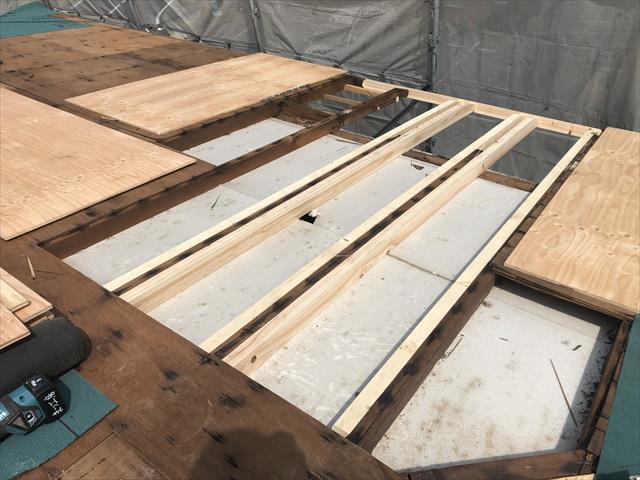 屋根葺き替え 下地補強 垂木