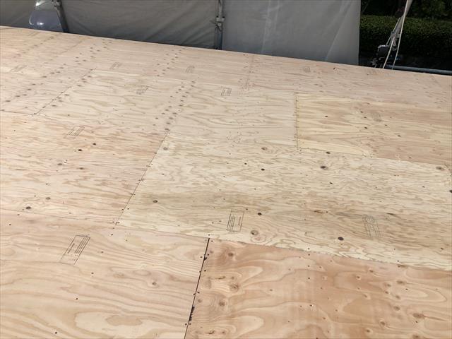 屋根葺き替え コンパネ張り 終了
