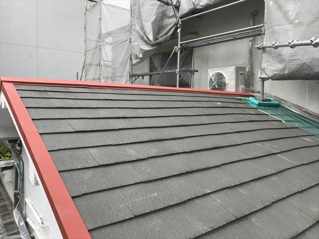 下屋屋根塗装前