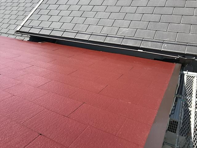 ワインレッド 屋根塗装