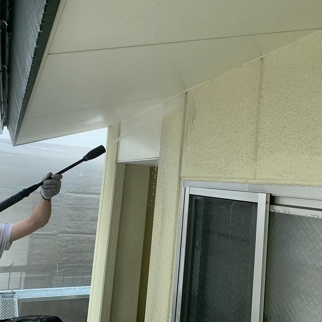 外壁塗装工事 下地調整 高圧洗浄