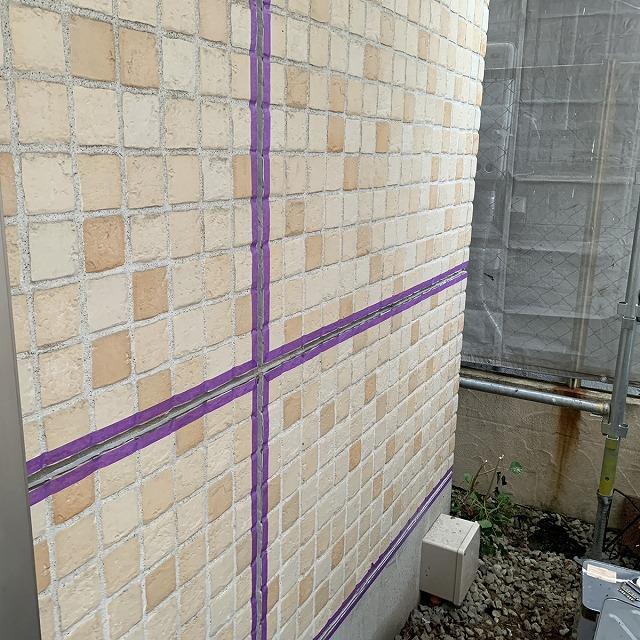 外壁塗装工事 下地調整 マスカー 養生