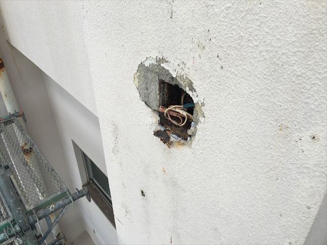外壁 開口部補修