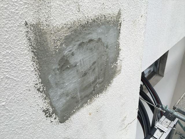 外壁欠損部補修