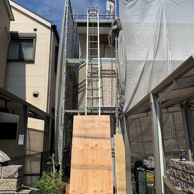 屋根工事 屋根葺き替え スライダー 材料運搬