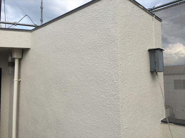 塔屋 外壁塗装 上塗り