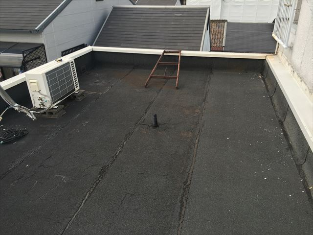 屋上 アスファルト防水 露出型