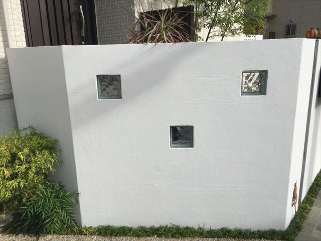 塀フッソ塗装工事 完成