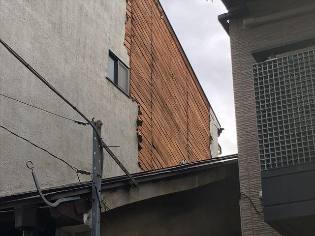 外壁モルタル 欠落