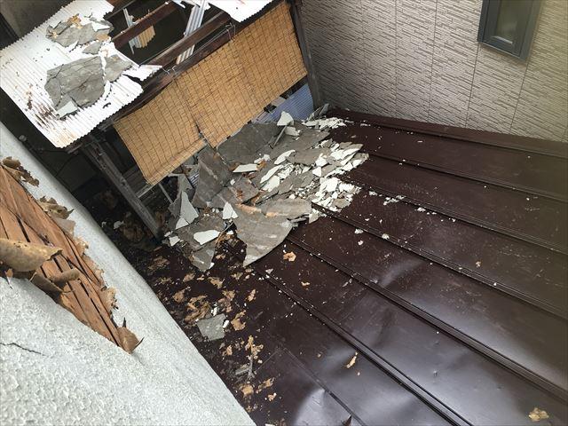 隣家 台風被害