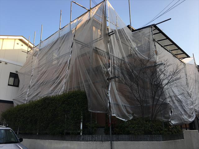 2階建て外壁、屋根塗装工事