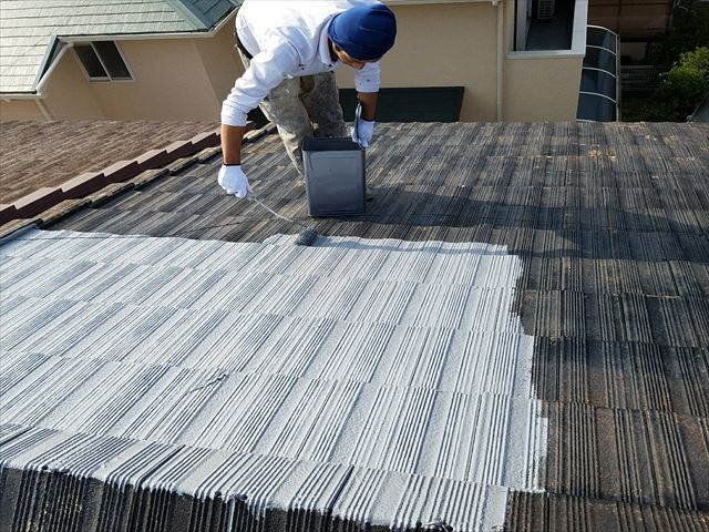 屋根塗装 1回目