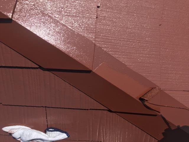 屋根板金塗装 ファインウレタン塗布
