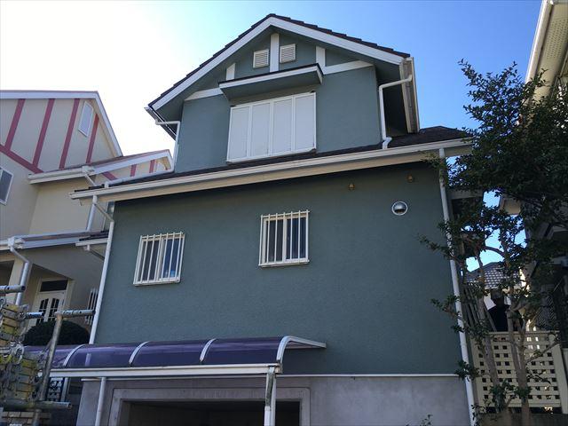 木造2階建て 屋根塗装工事