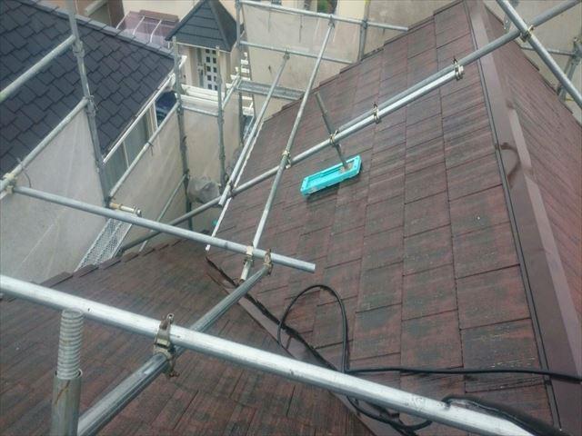 屋根 高圧洗浄 苔撤去