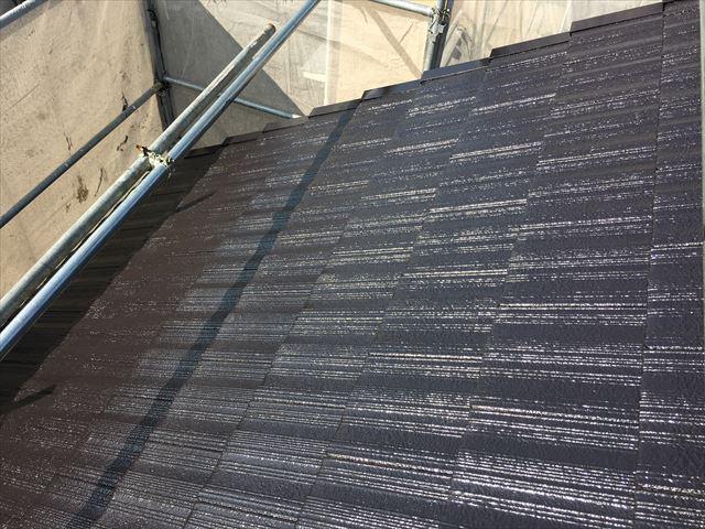 屋根塗装 2回目塗布