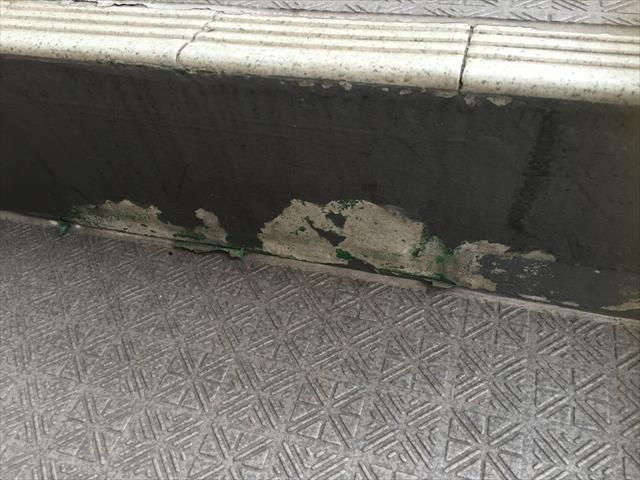 階段蹴上 防水劣化