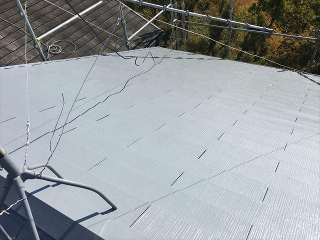 屋根塗装 マイルドシリコン 塗布完了