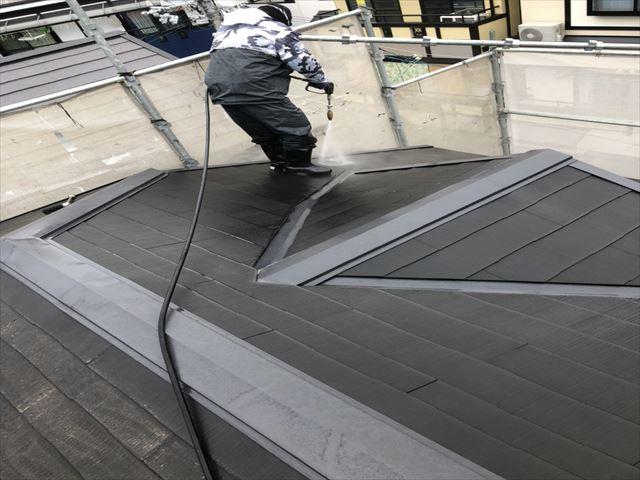 外壁塗装工事 屋根洗浄
