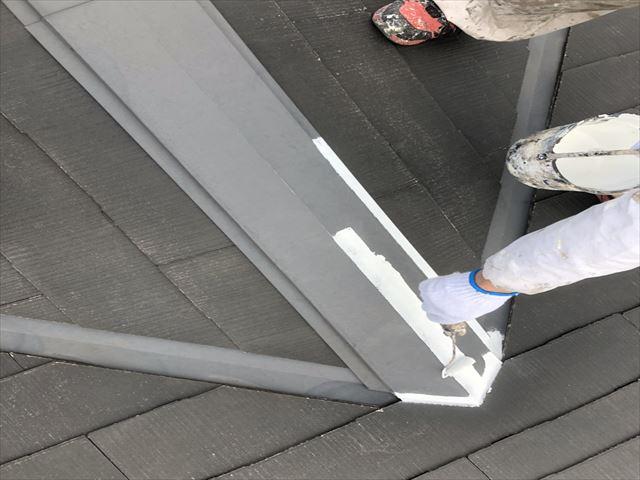 屋根板金 錆止め塗布