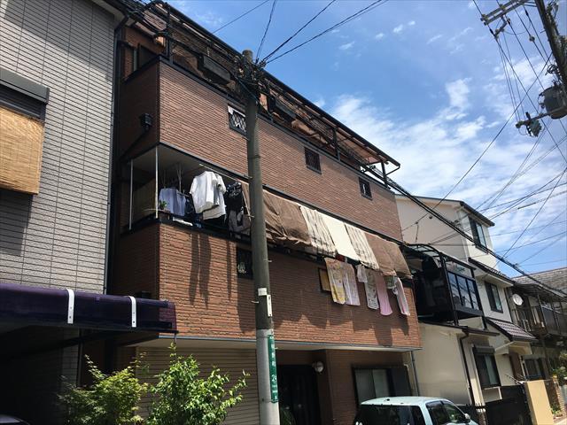 3階建てサイディング外壁 現場調査