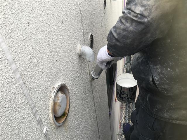 ALC外壁 シーリング工事 増し打ち