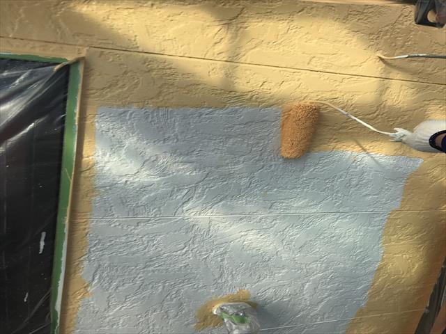 サイディング外壁塗装 ローラー塗装