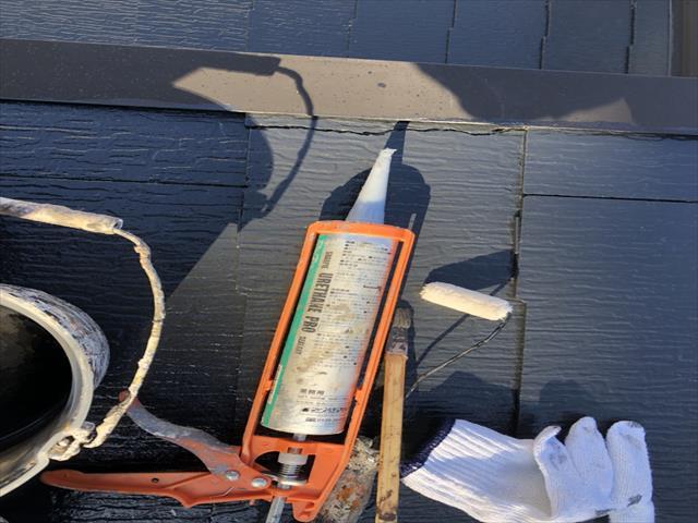 屋根 割れ コーキング補修