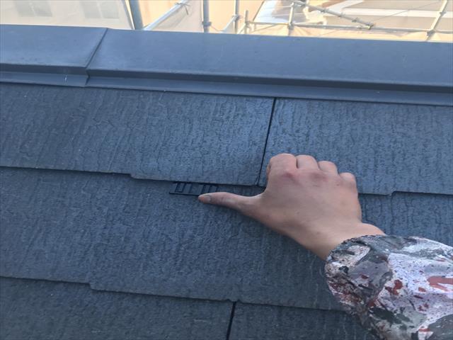屋根塗装工事 タスペーサー取付