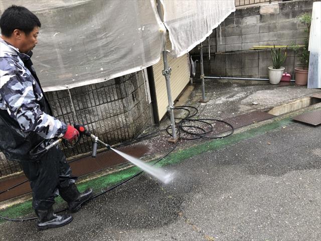 道路 高圧洗浄