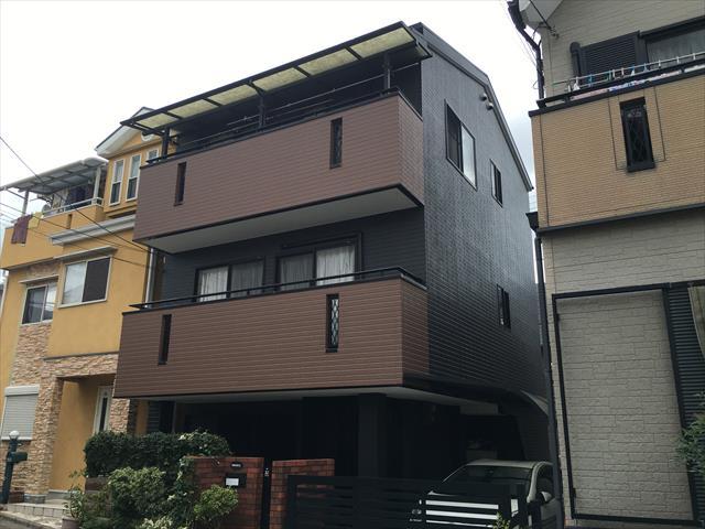 3階建て外壁・屋根塗装工事