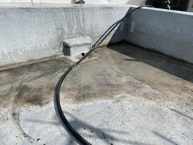 東淀川区 屋上防水 勾配が悪い