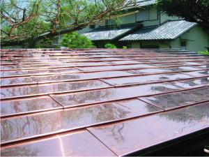 金属屋根平葺き