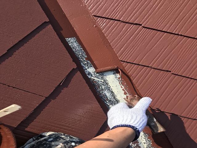 屋根板金 上塗り