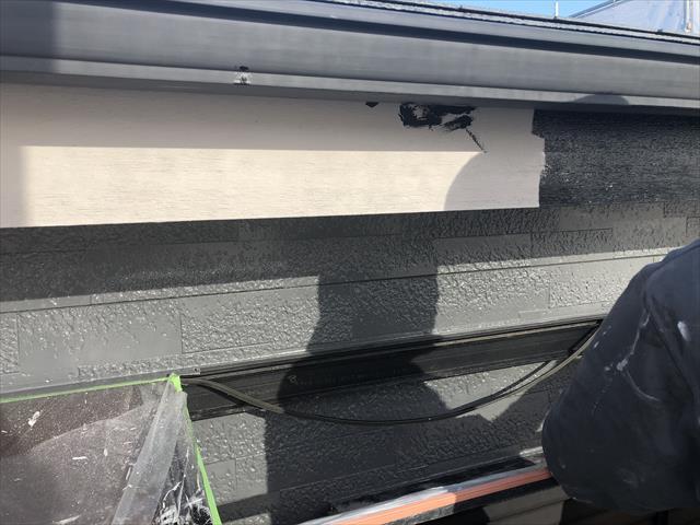 木部 破風板 塗装