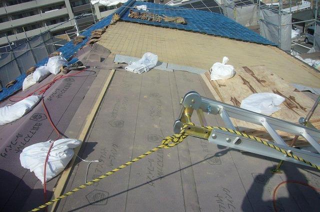 瓦撤去 屋根葺き替え