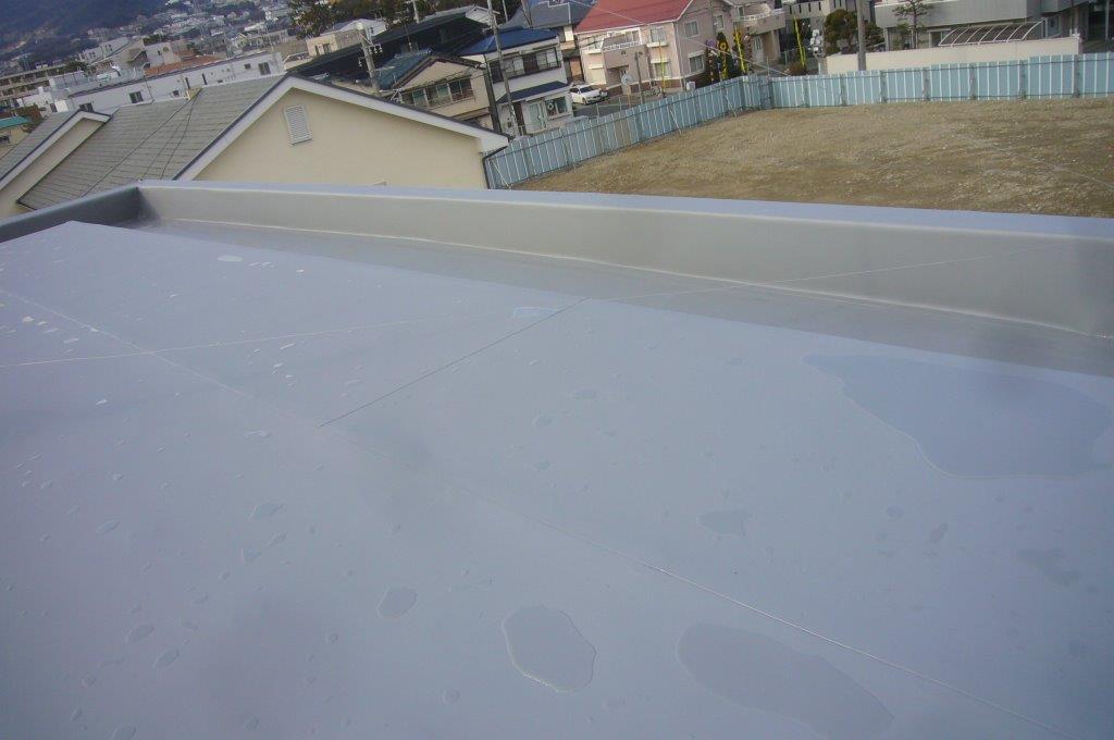 屋上防水 塩ビシート絶縁工法 完工