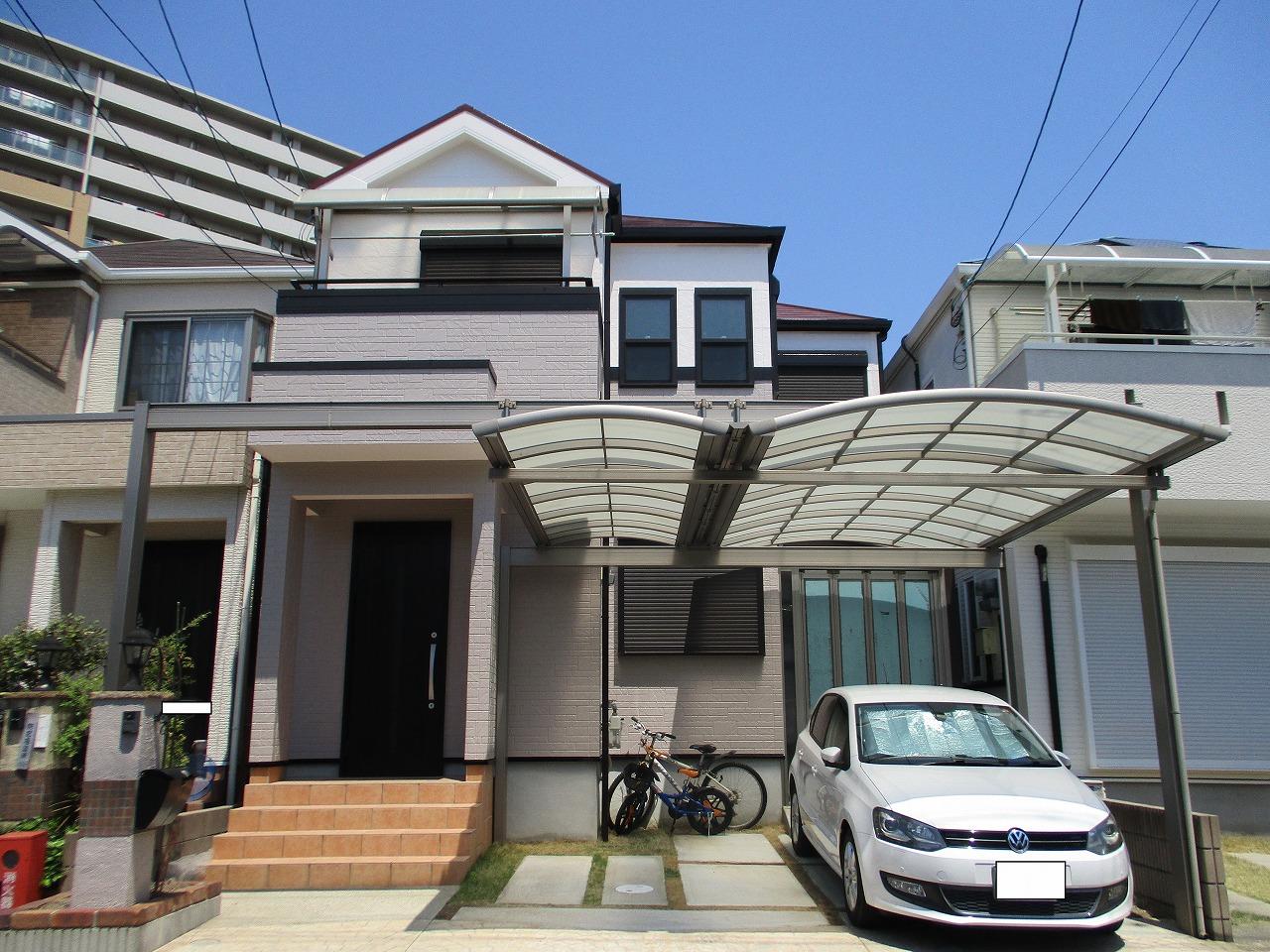 大阪市淀川区 外壁塗装 屋根塗装 施工例 パーフェクトトップ