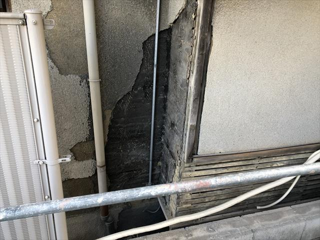 外壁撤去 モルタル撤去
