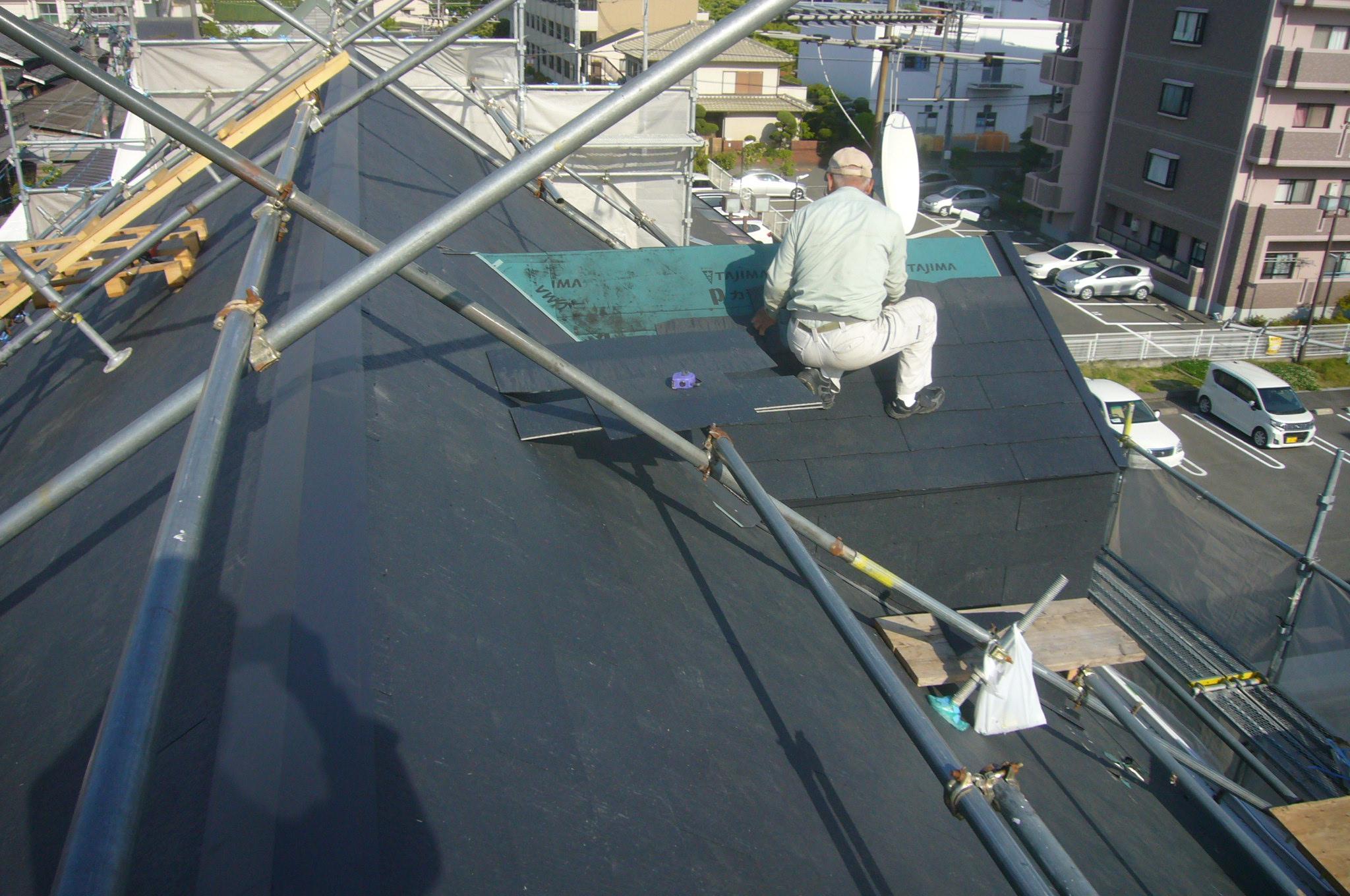 鳩小屋屋根仕上げ