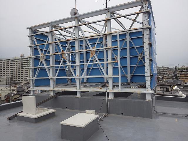 屋上の看板枠
